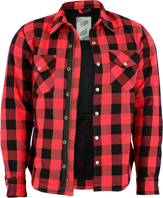 Lumberjack - Camisa-chaqueta a cuadros de color rojo y negro
