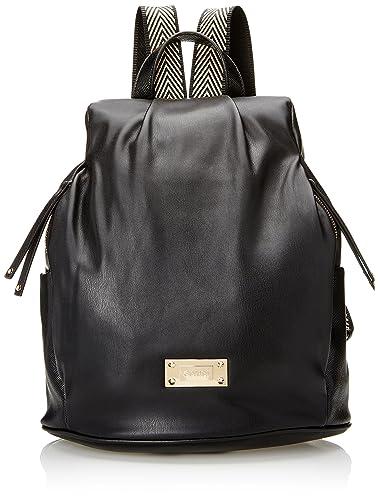 Gaudi Backpack Linea Amber, Sac à main pour femme (Black) 30x33x16 cm (W x H x L)