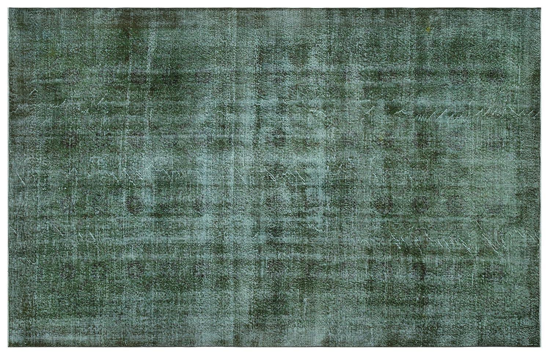 Bespoky ビンテージ 手織 ラグ 緑 大きいサイズ 199 X 314 Cm   B07HNP7D8M