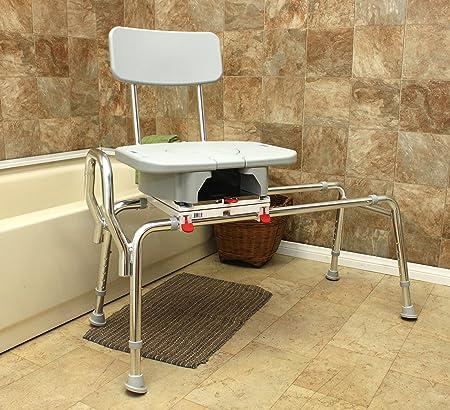 Amazon.com: Complete Medical Transfer Bench Swivel Sliding Bathtub ...