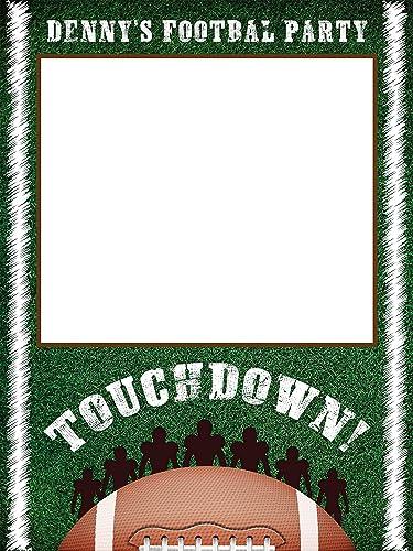 Amazon Com Football Sports Birthday Photobooth Frame Sports Theme