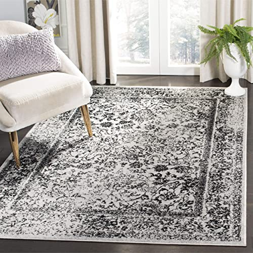 Safavieh Adirondack Collection ADRW109B Grey and Black Vintage Distressed Area Rug 4 x 6