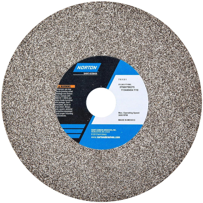 Grinding Wheel, T1, 7x1x1, AO, 36/46G, Brown NORTON