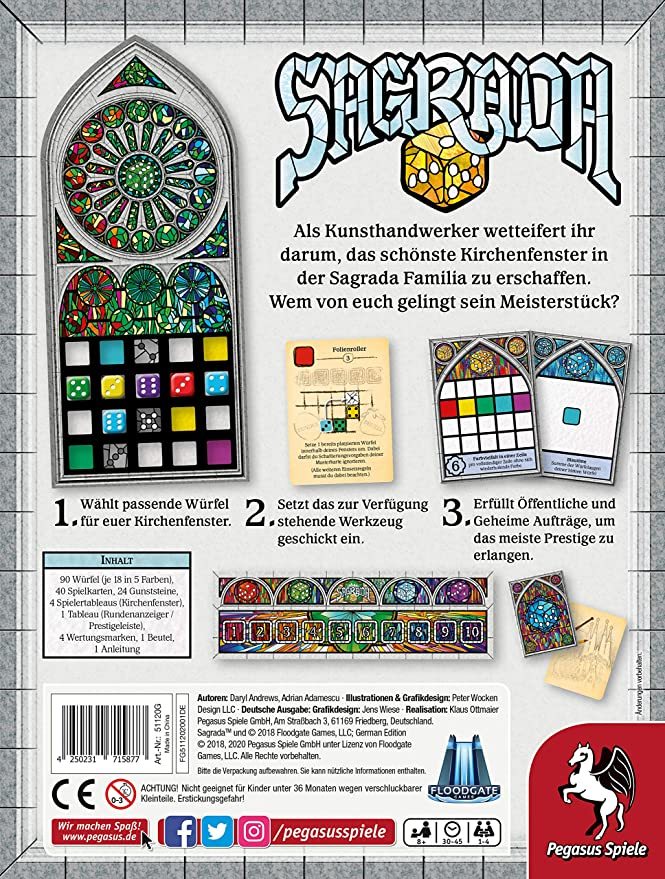 Sagrada (Aleman): Amazon.es: Juguetes y juegos