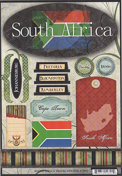 Amazon South Africa World Travel Cardstock Scrapbook Stickers