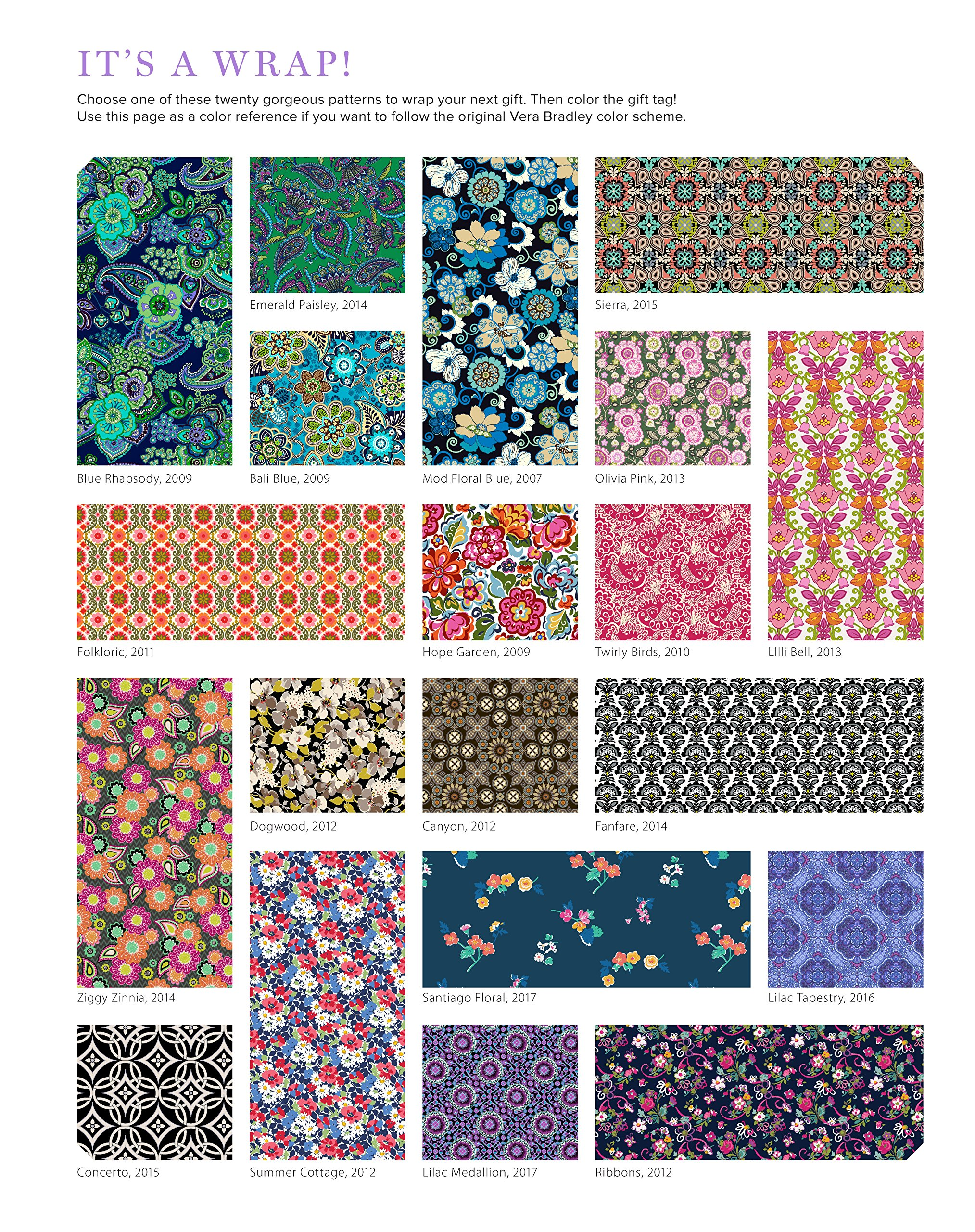 Vera Bradley Birthday Bash Wrapping Paper  20 Sheets to Craft, Wrap   Love  (Design Originals) 18-inch by 24-inch Patterns Perfect for Birthday Gifts,  ... 2d93d1dc8a