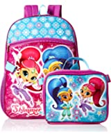 Nickelodeon Girls' Shimmer and Shine Backpack with Lunch