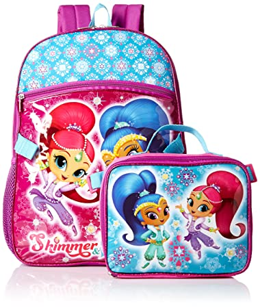 b78a4581a095 Nickelodeon Girls  Shimmer and Shine Backpack with Lunch