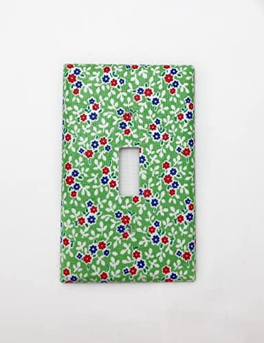 Amazoncom Little Flowers Fabric Covered Single Light Switch Cover