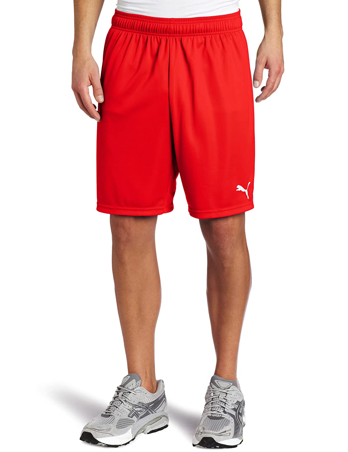 PUMA Team Shorts without Inner Slip, ROT-Weiß, Large