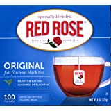 Red Rose Original Full Flavored Black Tea 8oz Box of 100 Tea Bags