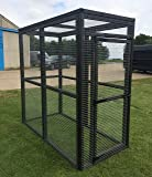 4wire Animal Pet Run 6ft x 3ft Black Strong Outdoor Enclosure