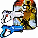 Boys Star Wars Birthday Party Set with StormTrooper Backpack Plus Boys Toys Laser Tag Blasters - 2 Pack