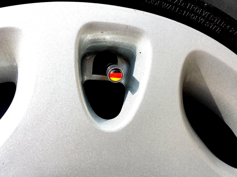 4x Auto Ventilkappe Ventilkappen Chrom mit Smiley Smilie Logo Ventil cap f/ür alle KFZ PKW LKW Modelle 4er Set
