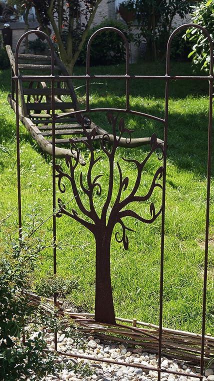 Metall Rankhilfe Baum Edelrost Rankgitter Spalier Gartendekoration