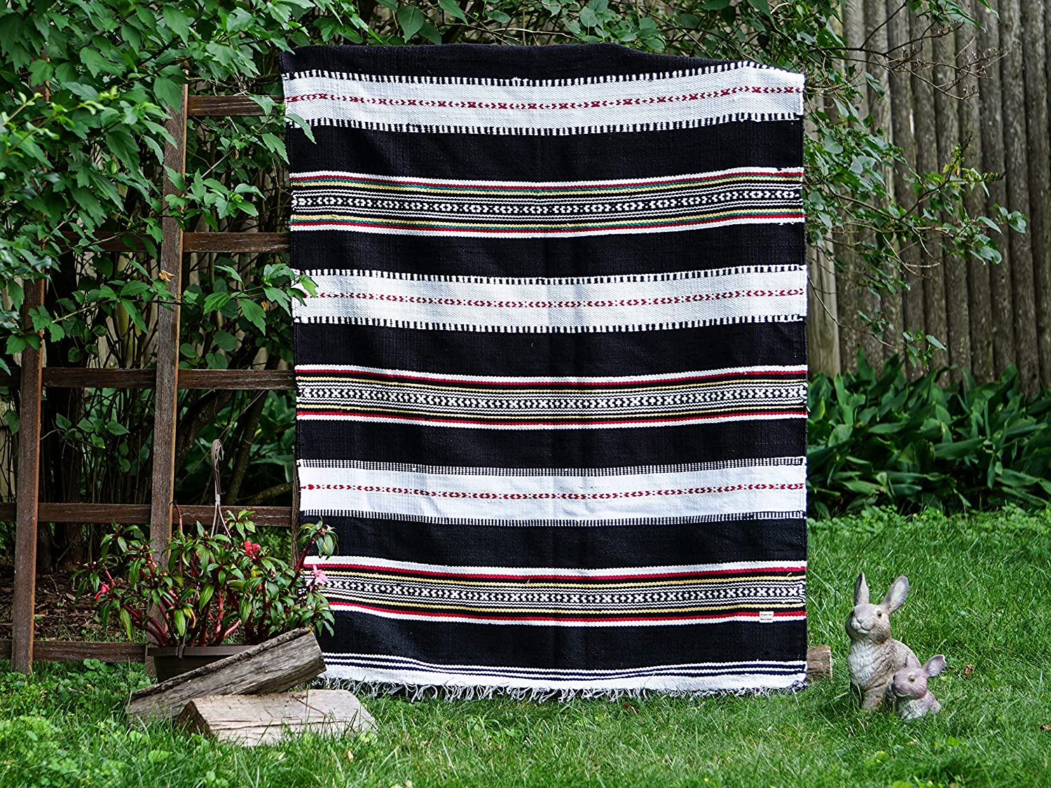 Image of Home and Kitchen Aasma's Dream Boho Blanket | Handwoven Authentic | Perfect Beach Blanket, Camping Blanket, Blanket and Throws