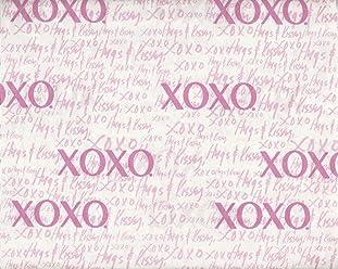 Pink White Hugs & Kisses XOXO Twin Size Sheet Set XOXO home Sheets