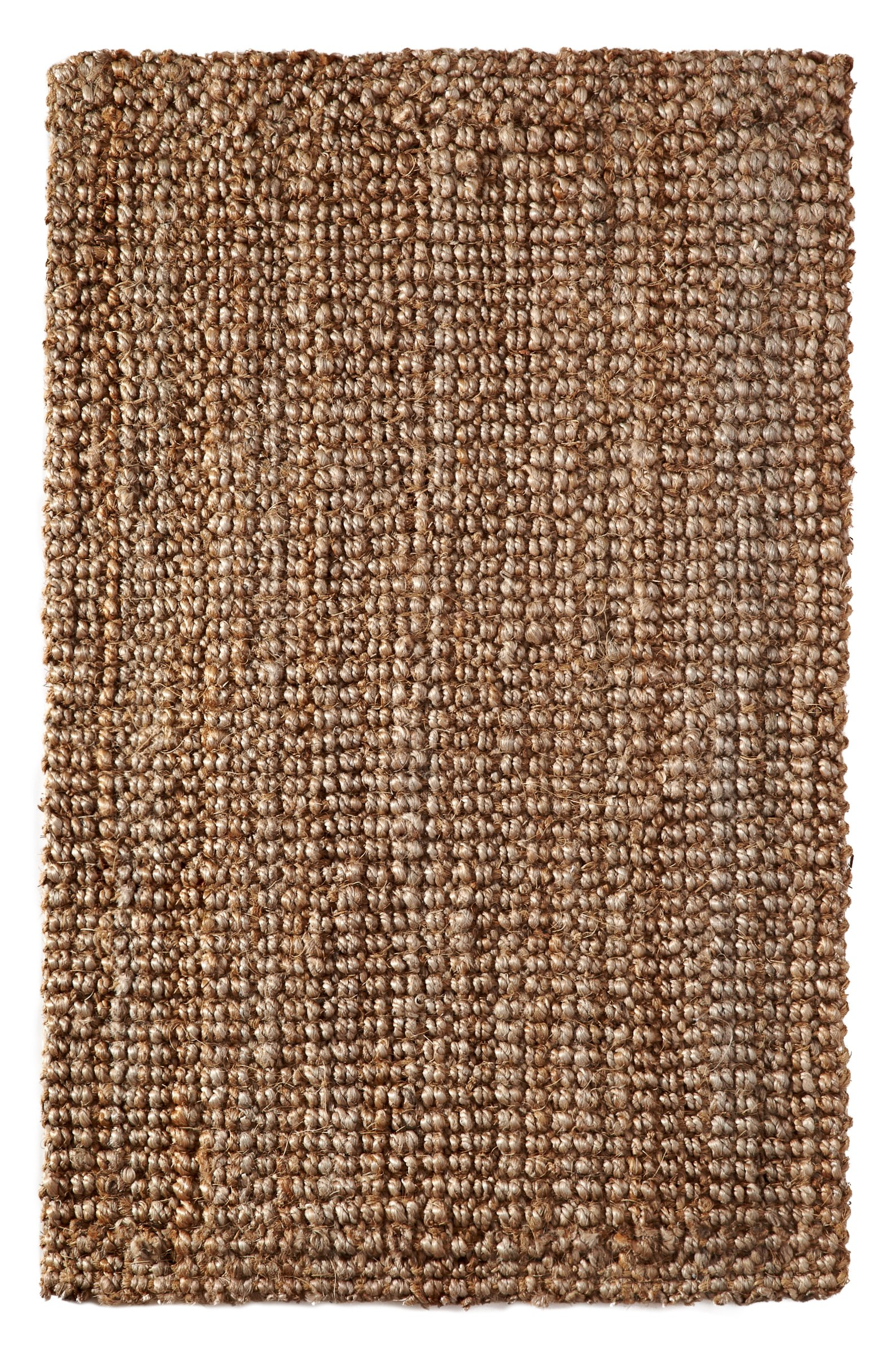 Iron Gate Handspun Jute Area Rug 4x6 Hand woven by Skilled Artisans, 100% Natural eco-friendly Jute yarns, Thick ribbed construction, Reversible for double the wear, Rug pad recommended by Iron Gate