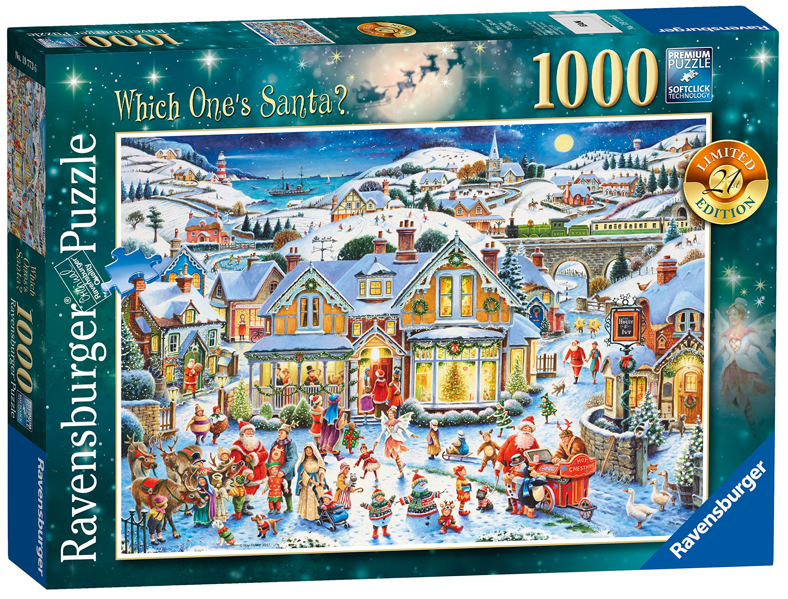 Ravensburger Which One's Santa? 1000pc 2017 Limited Edition Christmas Puzzle by Ravensburger