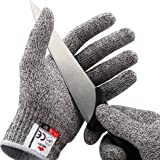 NoCry Cut Resistant Gloves - High Performance Level 5 Protection, Food Grade. Size Large. Free Ebook Included!