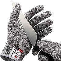 NoCry Schnittfeste Handschuhe – Leistungsfähiger Level 5 Schutz, lebensmittelecht, 1 Paar