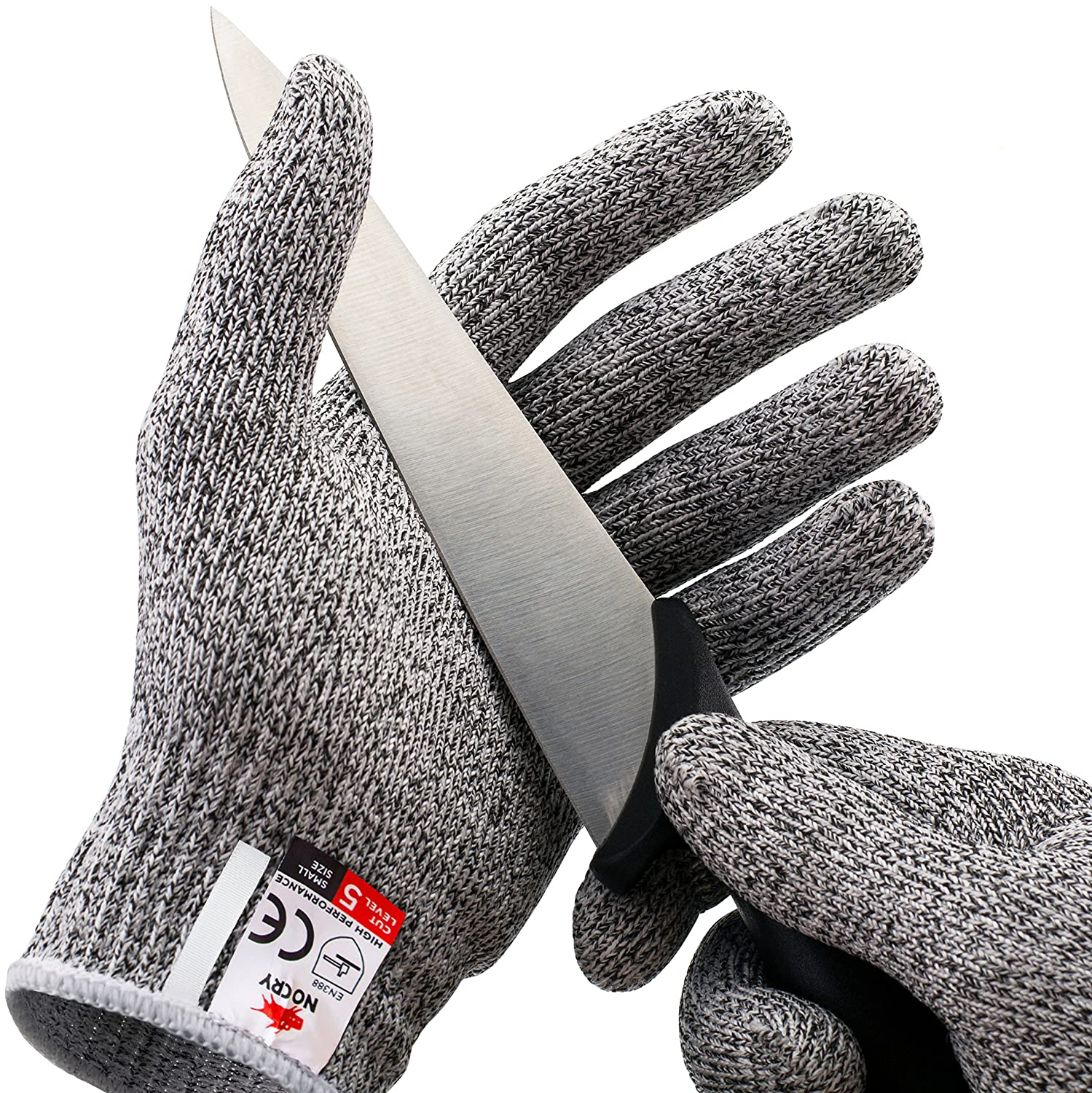 NoCry Cut Resistant Gloves - High Performance Level 5 Protection, Food Grade. Size Large