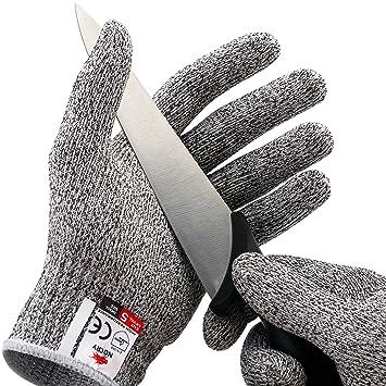 NoCry Schnittfeste Handschuhe – Leistungsfähiger Level 5 Schutz,  lebensmittelecht. Größe : XL, 1 Paar