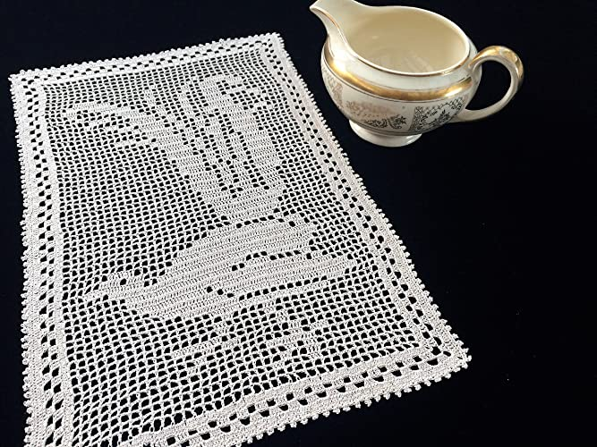 Amazon Crochet Doily Australian Mary Card Crochet Lyrebird