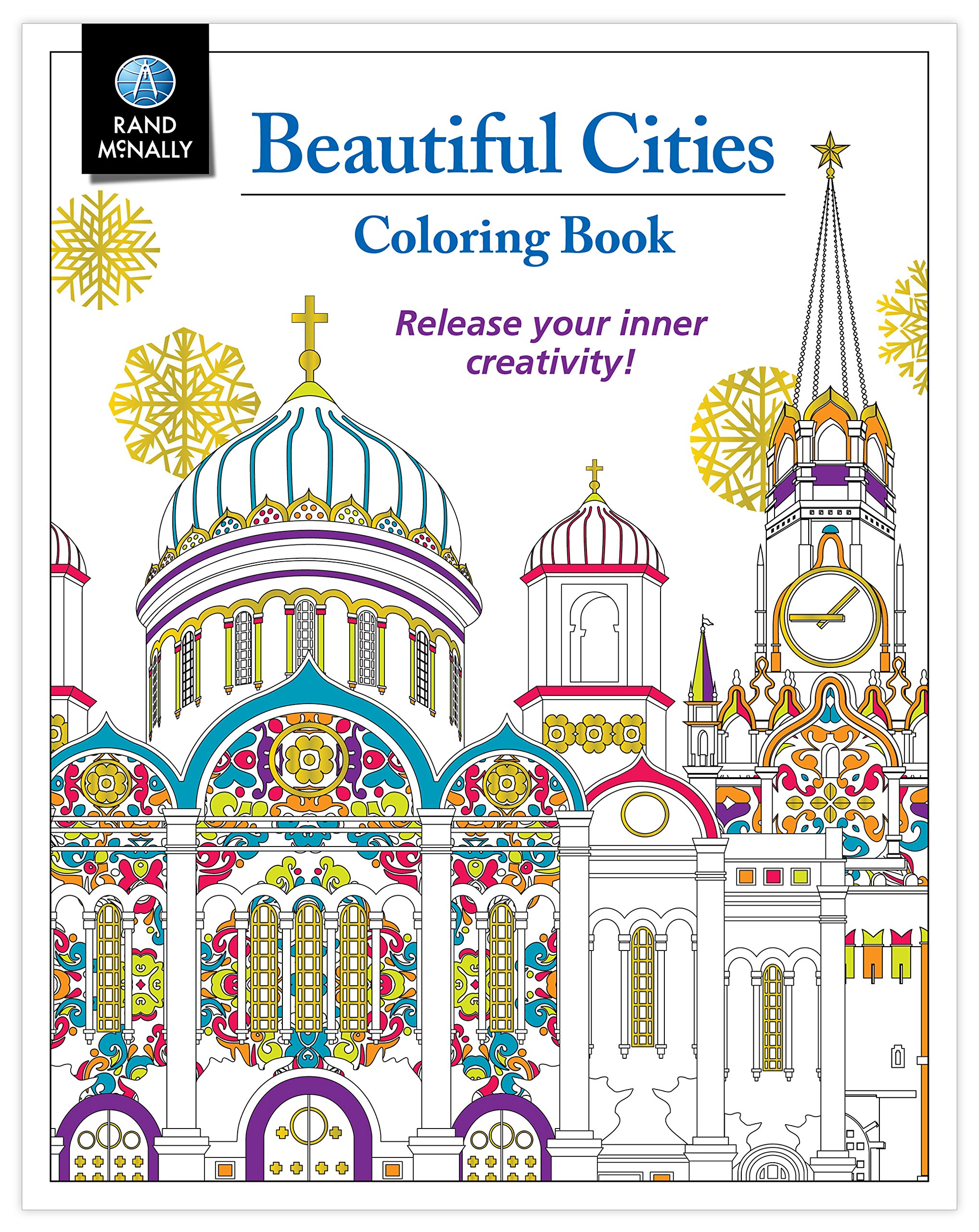 Amazon Adult Coloring Book Rand McNally Beautiful Cities