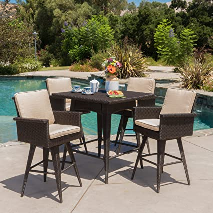 Amazon.com: Christopher Knight Home Marbella Outdoor 5 Piece ...