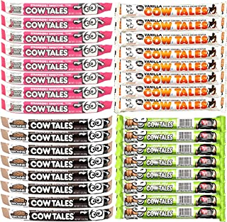 product image for Goetze's Cow Tales 1oz Variety Pack of 32 Strawberry Chocolate Caramel Apple and Vanilla