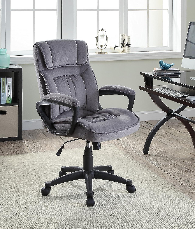 Amazon Serta Executive fice Chair in Velvet Gray Microfiber