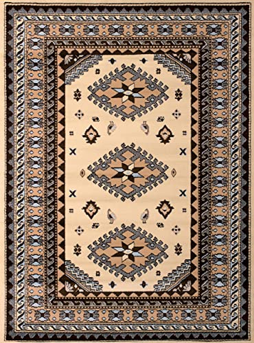 United Weavers of America Dallas Tres Rug, 8 x 10 , Ivory