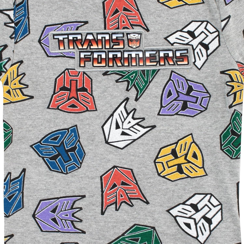 Transformers Pigiama a Maniche Corta per Ragazzi Vestibilitta Stretta