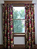 Carstens Cabin in The Woods Cotton Printed Lined Drape Set