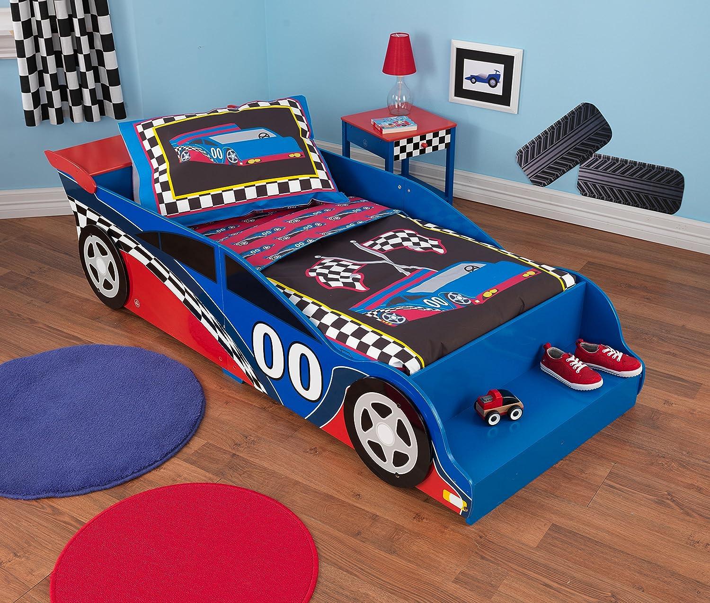 Amazon.com: KidKraft Toddler Racecar Bedding Set (4-Piece): Toys ...