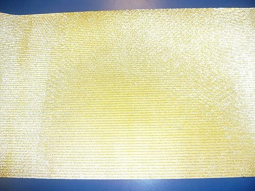 Camino de mesa dorado de papel desechables para todos los quince ...