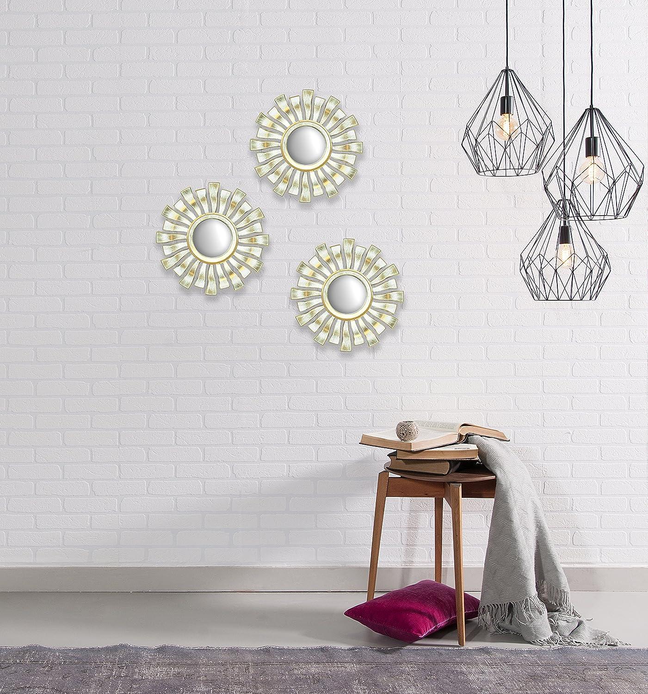 Urban Shop 784857762280 Wavy Mirror Champagne Idea Nuova