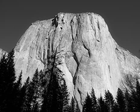 El capitan in black and white yosemite national park ca matted photo art