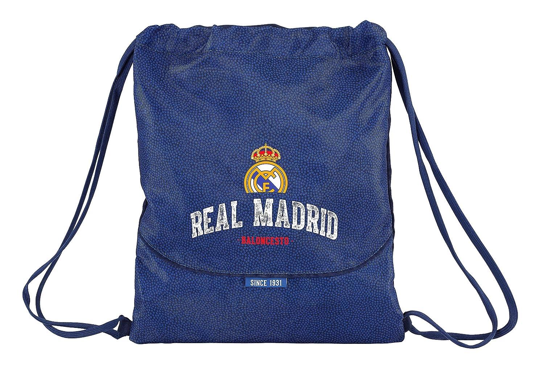 Safta Saco Plano Real Madrid Basket Oficial Saco Plano Grande 350x400mm