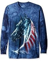The Mountain Patriotic Horse Head USA Long Sleeve T-Shirt