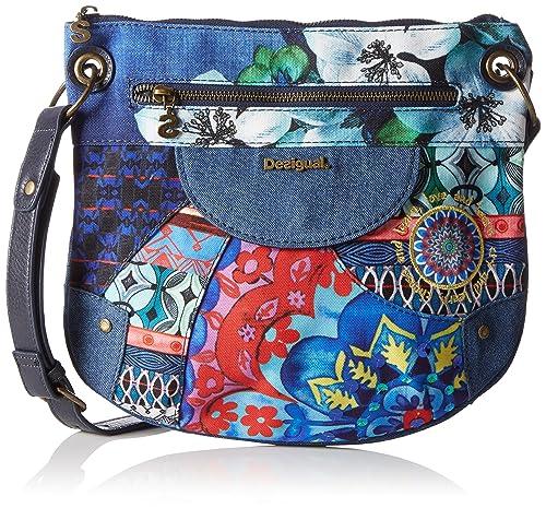 2fa84aa655 Desigual Brooklyn Culture Club - Borse per donna, blue: Amazon.it ...