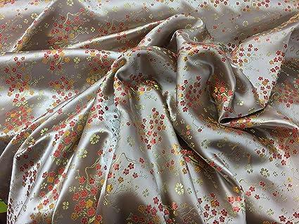 Prestige telas brocado de seda China Oriental flor vestido de novia vestido de flores, traje