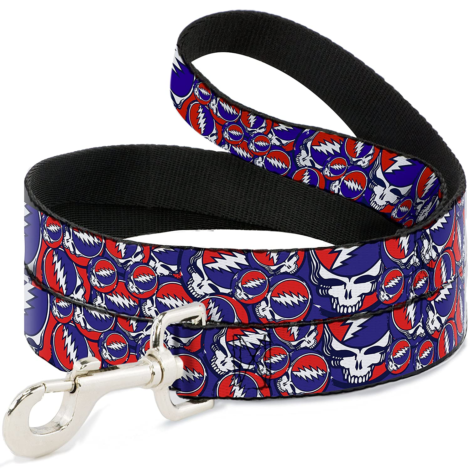 6 Feet Long 1\ Buckle-Down Pet Leash Steal Your Face Stacked Red White bluee 6 Feet Long 1  Wide