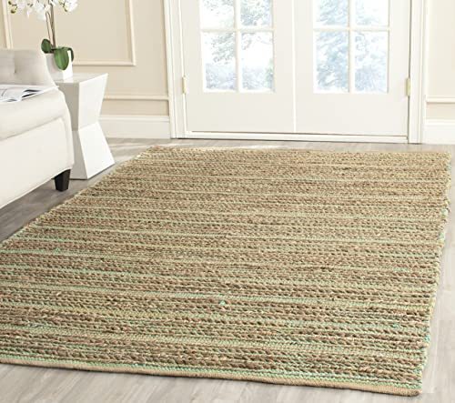 Safavieh Cape Cod Collection CAP851C Handmade Green Jute Area Rug 9' x 12'