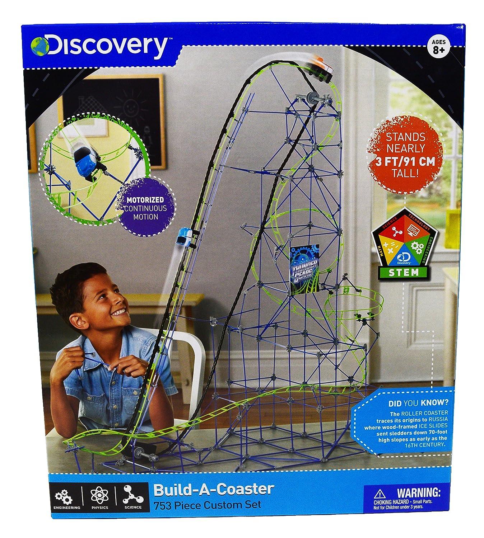 Discovery Toys Kids Roller Coaster Build a Coaster 753 Piece Custom Set