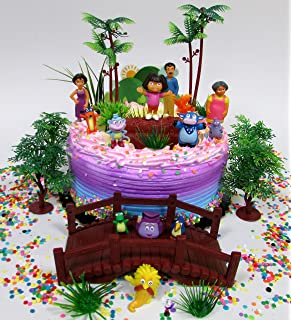 Amazoncom Dora the Explorer Birthday Celebration DecoSet Cake