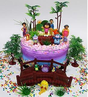 Amazoncom Dora The Explorer Edible Cake Topper Decoration Toys - Dora birthday cake toppers