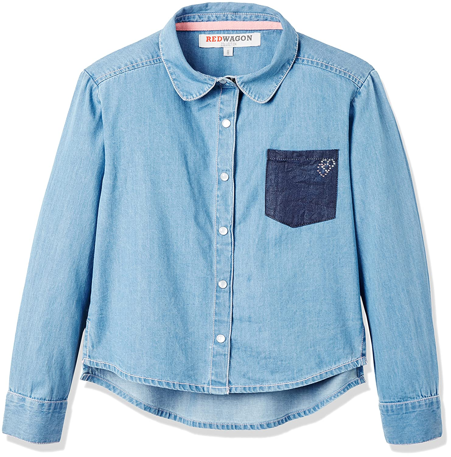 RED WAGON Camicia in Cotone Chambray Bambina 2147