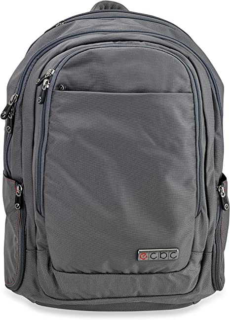 "K7102-20 Blue Adjustable Straps /& 17/"" Padded Laptop Sleeve TSA-approved FastPass System Lightweight Water-Resistant Business /& Travel Bag ECBC 18.4 Inch Hercules Laptop Backpack"